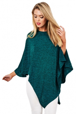 Plain Coloured Irregular Long Sleeve Tops