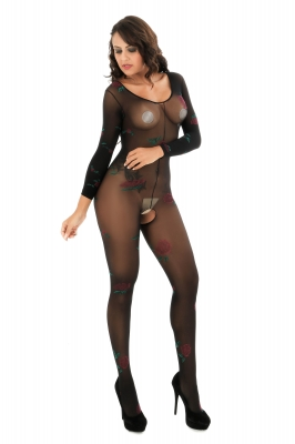 Black Sexy Lace Sheer Print One-piece Baby Stocking
