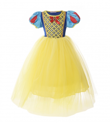Classic Snow White Princess Costume Fancy Dress for Christmas Gift