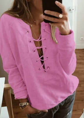 Sexy v-neck strap bandage hoodie tops