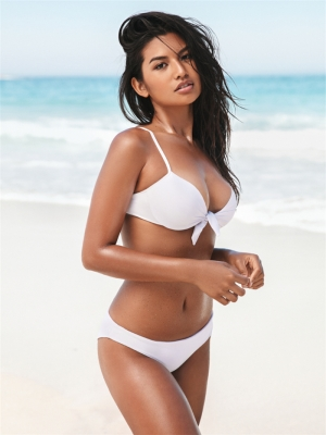 Solid swimwear With Knot front White Bikinis