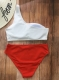 Pit Strip Solid Color High Waist 2 pcs Halter Sexy Removed Pad Women Swimwear