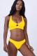 All the Rage Multicolor 2 Pcs Solid Color Lace up Simple Style Ladies' Swimwear