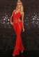 Red one piece ladies dress with sequin