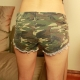 Sexy Fashion Camouflage Fray Jeans Shorts