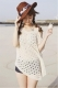 Cotton Off-shoulder Short-sleeve Holes Beach Knitwear White