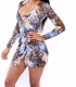 New Fashion Spandex Long Sleeve Swimwears hot sexy Galaxy Print Women Summer beach wear swimwear bikini(without bikini))