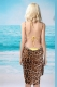 Sexy Wild Front Cross Leopard Beach Cover-up Dress