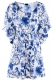 Cool Loose Blue And White Porcelain Style Beach Dress