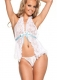 Hot sell white lace sweety babydoll with bowknot