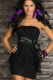 Double-layer Package Hip Tutu Dress Black