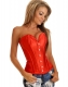 Red Metal Boned Corset