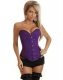 Purple Sequin Burlesque Corset