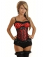 Classic Lace Dot Corset Red