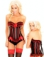 Red-Black Lace Up corset