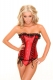 Elegant Gothic Red Lace Up Corset