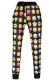 Black Long Sleeves Legging Print Noir Smiley