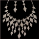 Rhomb Rhinestone Necklace and Adequate Earrings