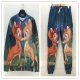 Autumn Couples Attractive Deers Printing Hoody