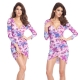 Fashion Club Style Floral Party Bandage Print Dre