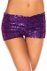 Purple Sequin short