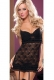 Victorian Sexy Lace Babydoll Black