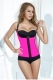 High Quality Strappy Rubber Vestidos Corset Rose