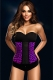 New Royal Rubber Corset Purple Leopard