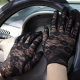 Lace Floral Crocheted Sun Protective Short Knitted Gloves Black