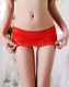 Sexy Women  Boyshorts Lace Floral Panties Red