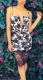 Hot Seductive Women Clubwear Strap Floral Leaves Print Lacing Bodycon Dress