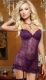 New Arrival Hot Sale Sexy Woman Lace Hollow Out Babydoll Purple