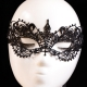 Hot Sale Handmade Masquerade Party Black  Club Lace Mask
