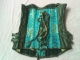 High Quality Steel Bone Jacquard Green Corset