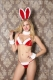 Sexy Christmas Cosplay Bunny Costume Red