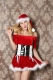Christmas Cosplay Santa Claus SlashNeck 2pcs Red