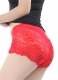 Red Floral Lace High Waist Lifter Panty