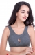 Yoga Sporty Vest Push-Ups Underwired Bra Dark Gray