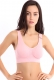 Sporty Vest Underwired Seamless Put-Ups Yoga Bra Pink