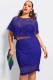 Diaphanous Lace Mesh Bodycon Dress Blue