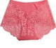 Watermelon Red Floral Lace High Waist Lifter Panty