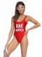Fashion One Piece Letter Printed Swimsuit BAE WATCH