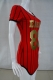 Hot Sell Stripes Gilding Fashion Women Bodycon Dress Red