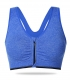Sexy Women Sport Bra With Zip Blue
