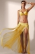 Newest 1pcs Women Lace Beach Dress Cover Up Yellow