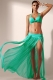 Green Elegant Mesh Maxi Skirt Cool Beachwear