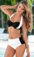 High- waist Women Bikini with Assorted Colors Black and White