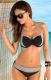 High- waist Women Bikini with Assorted Colors Gray and Black