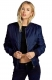 Classic Flight Jacket Short Bomber Jacket Women Coat Dark Blue