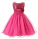 Little Girls' Sequin Mesh Flower Ball Gown Party Dress Tulle Prom Rose